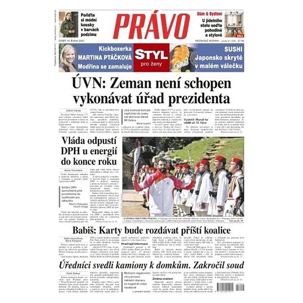 Právo - 19-10-2021 - Elektronické noviny