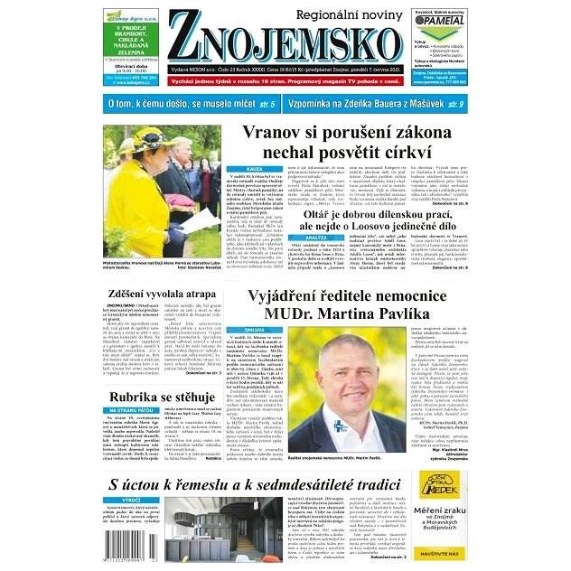 Regionální noviny Znojemsko - 23/2021 - Elektronické noviny