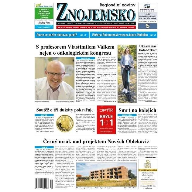 Regionální noviny Znojemsko - 38/2021 - Elektronické noviny