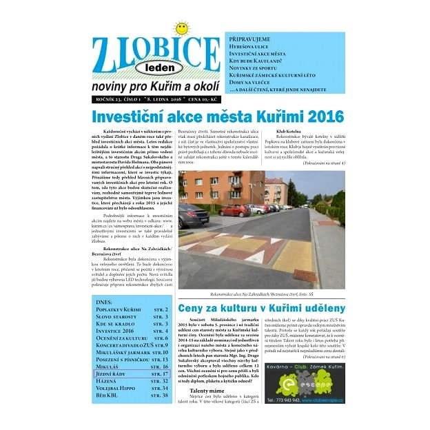 Zlobice - noviny pro Kuřim a okolí - 1/2016 - Elektronický časopis