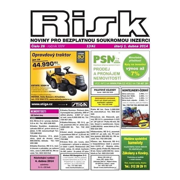 Risk, inzertní noviny - 26/2014 - Elektronické noviny