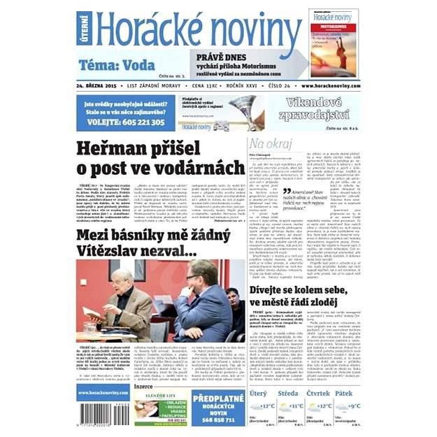 Horácké noviny - úterý 24. 3. 2015 č. 24 - Elektronické noviny