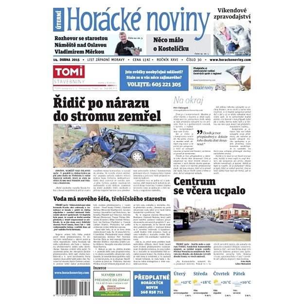 Horácké noviny - úterý 14. 4. 2015 č.30 - Elektronické noviny