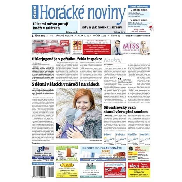 Horácké noviny - Pátek 9.10.2015 č. 79 - Elektronické noviny