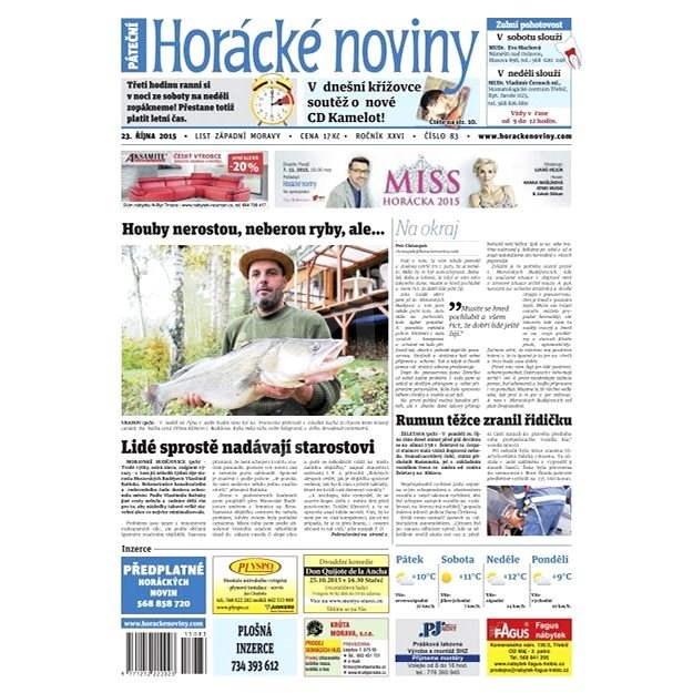 Horácké noviny - Pátek 23.10.2015 č. 83 - Elektronické noviny