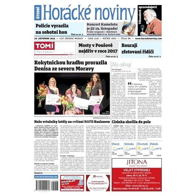 Horácké noviny - Úterý 9.11.2015 č. 88 - Elektronické noviny