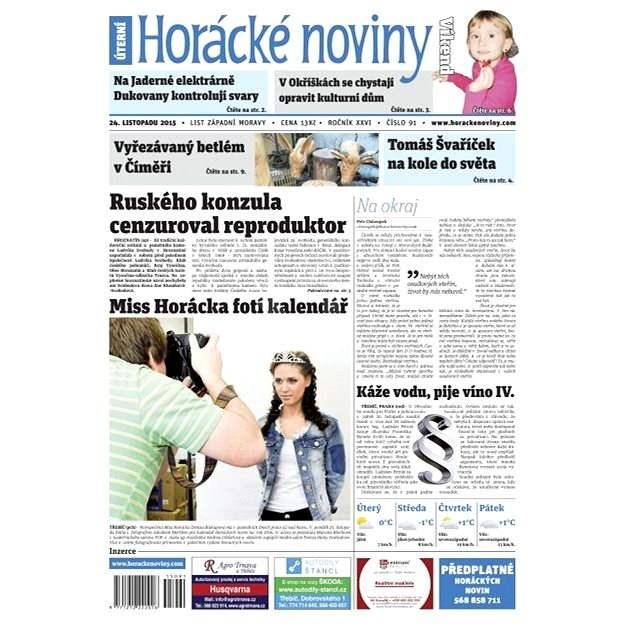 Horácké noviny - Úterý 24.11.2015 č. 91 - Elektronické noviny