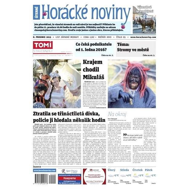 Horácké noviny - Úterý 8.12.2015 č. 95 - Elektronické noviny