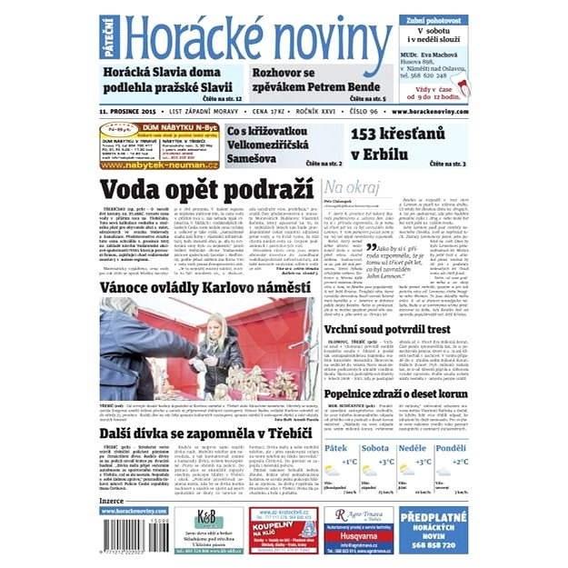 Horácké noviny - Pátek 11.12.2015 č. 96 - Elektronické noviny