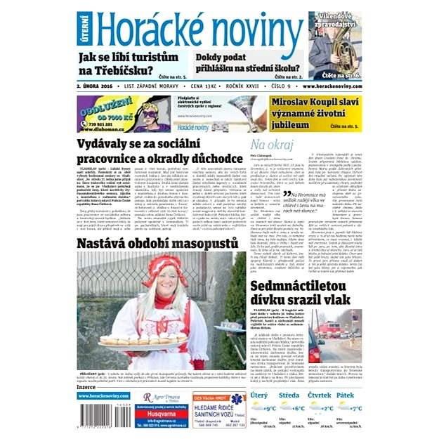 Horácké noviny - Úterý 2.2.2016 č. 009 - Elektronické noviny