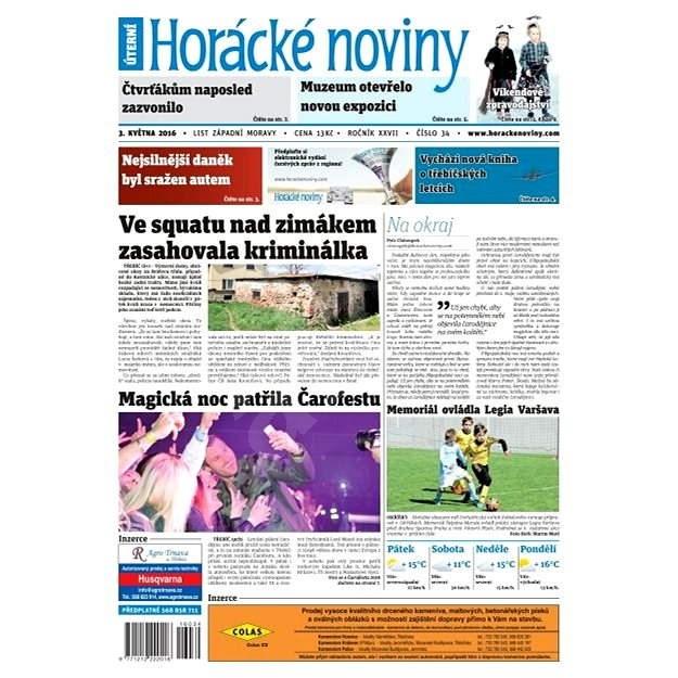 Horácké noviny - Úterý 3.5.2016 č. 034 - Elektronické noviny