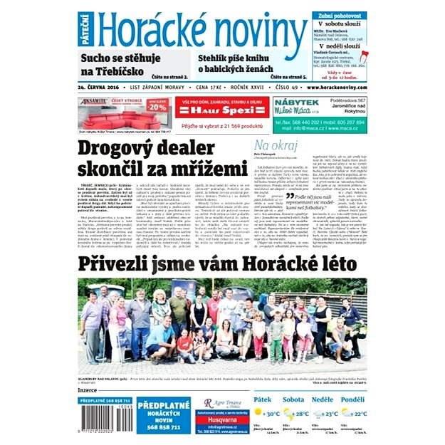 Horácké noviny - Pátek 24.6.2016 č.049 - Elektronické noviny
