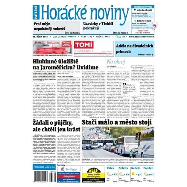 Horácké noviny - Pátek 21.10.2016 č. 082 - Elektronické noviny