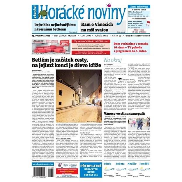 Horácké noviny - Pátek 23.12.2016 č. 099 - Elektronické noviny