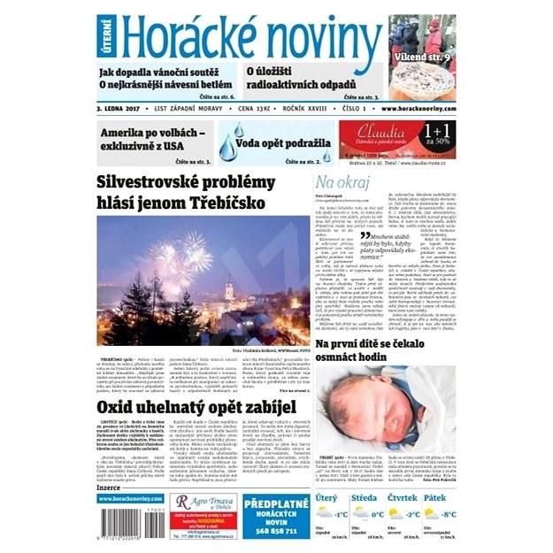 Horácké noviny - Úterý 3.1.2017 č. 001 - Elektronické noviny