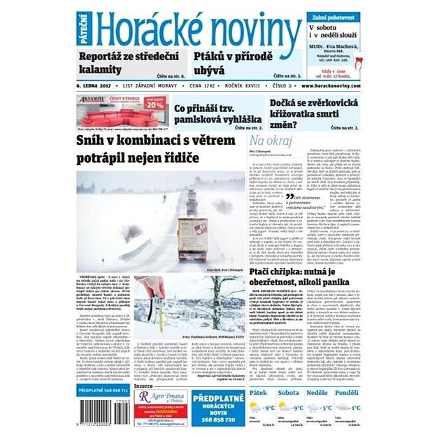 Horácké noviny - Pátek 6.1.2016 č. 002 - Elektronické noviny