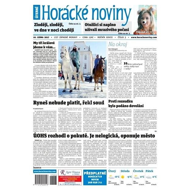 Horácké noviny - Úterý 10.1.2017 č.003 - Elektronické noviny