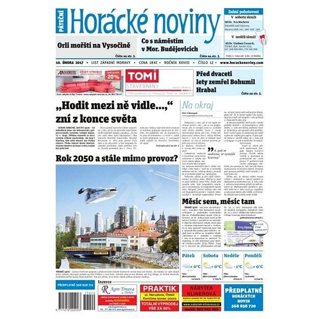 Horácké noviny - Pátek 10.2.2017 č. 012 - Elektronické noviny