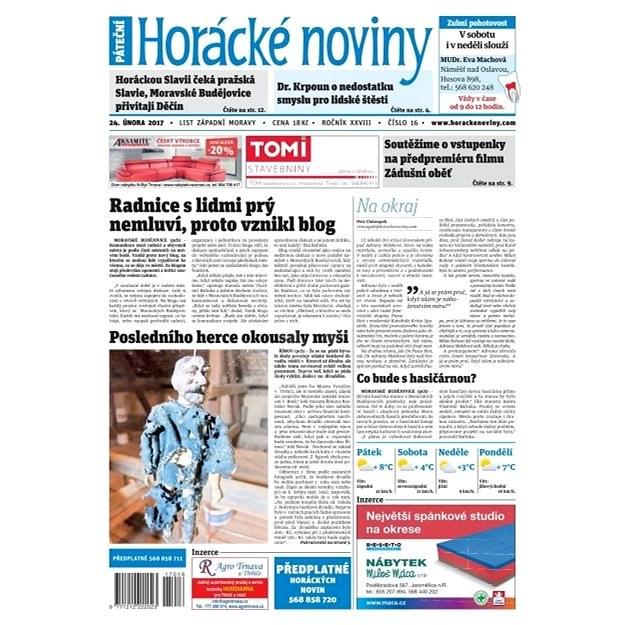 Horácké noviny - Pátek 24.2.2017 č. 016 - Elektronické noviny