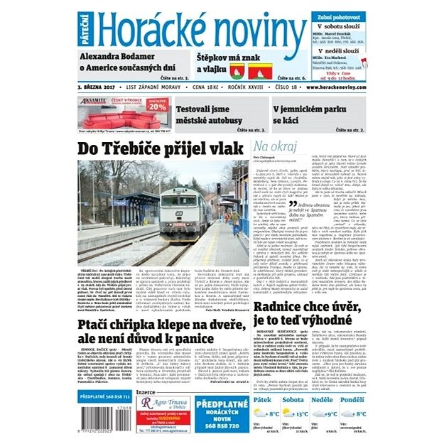 Horácké noviny - Pátek 3.3.2017 č. 018 - Elektronické noviny