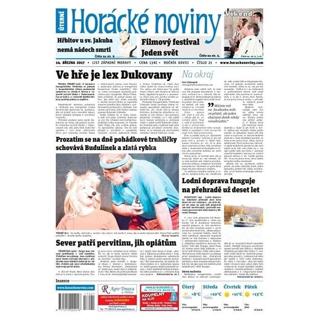 Horácké noviny - Úterý 13.3.2017 č. 021 - Elektronické noviny