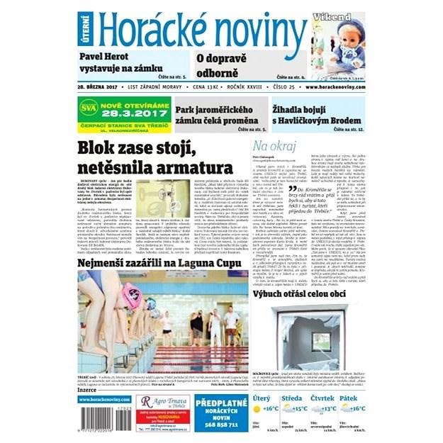 Horácké noviny - Úterý 28.3.2017 č. 025 - Elektronické noviny