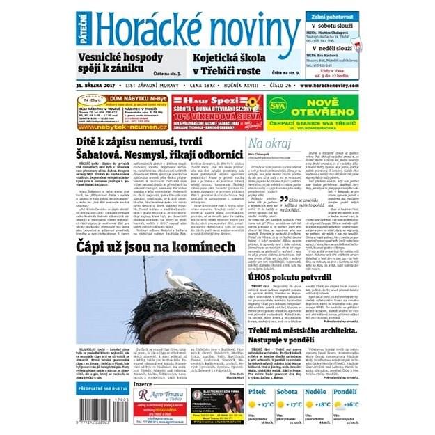 Horácké noviny - Pátek 31.3.2017 č. 026 - Elektronické noviny