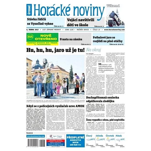 Horácké noviny - Úterý 4.4.2017 č. 027 - Elektronické noviny