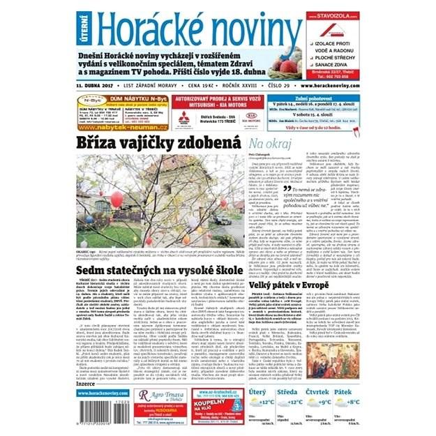 Horácké noviny - Úterý 11.4.2017 č. 029 - Elektronické noviny