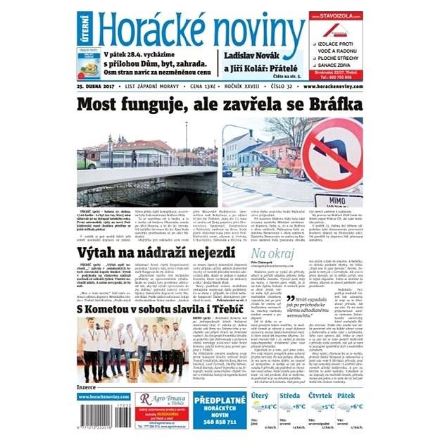Horácké noviny - Úterý 25.4.2017 č. 032 - Elektronické noviny