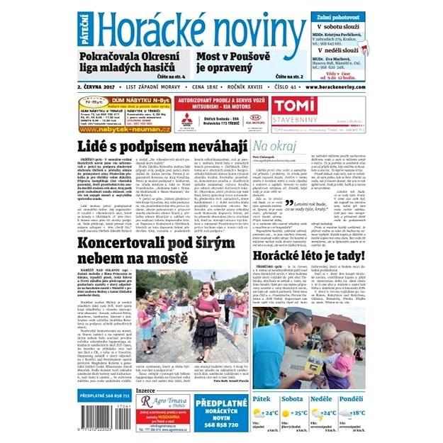 Horácké noviny - Pátek 2.6.2017 č. 041 - Elektronické noviny