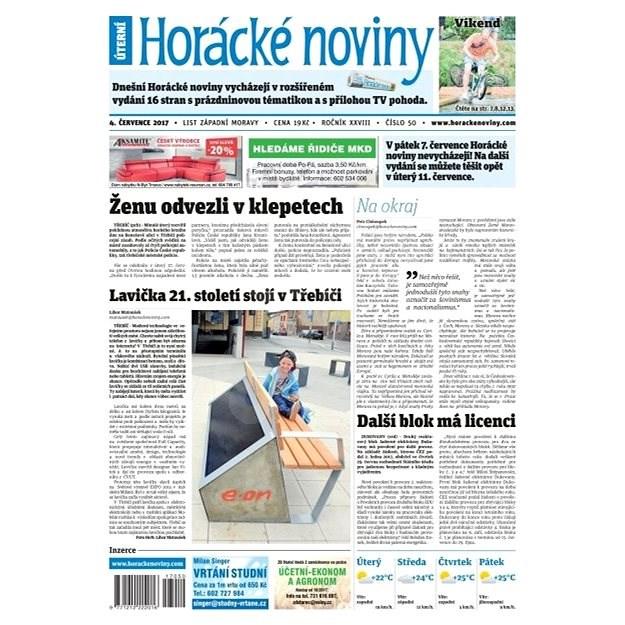Horácké noviny - Úterý 04.7.2017 č. 050 - Elektronické noviny