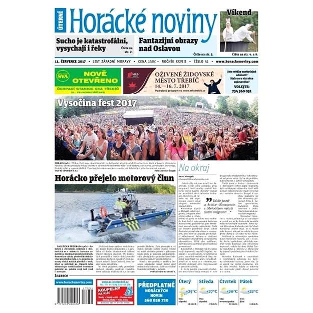 Horácké noviny - Úterý 11.7.2017 č. 051 - Elektronické noviny
