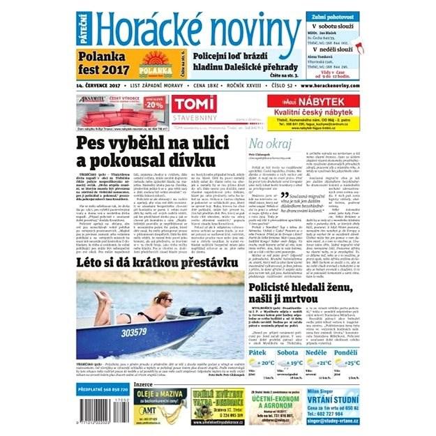 Horácké noviny - Pátek 14.7.2017 č. 052 - Elektronické noviny