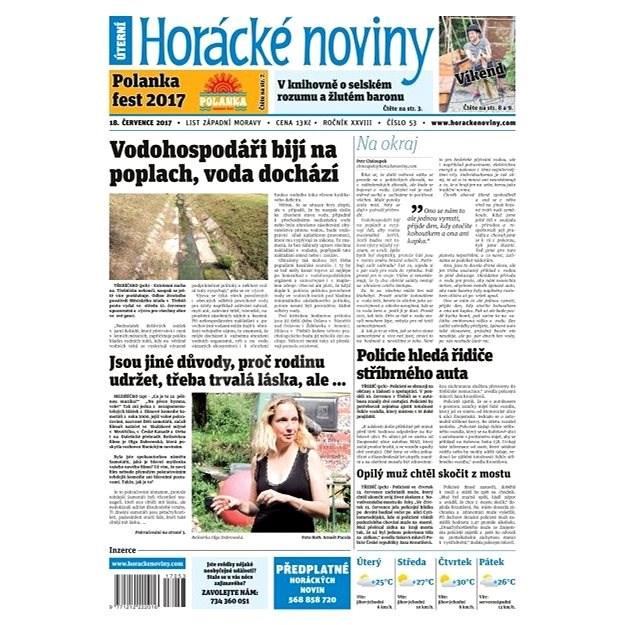 Horácké noviny - Úterý 18.7.2017 č. 053 - Elektronické noviny