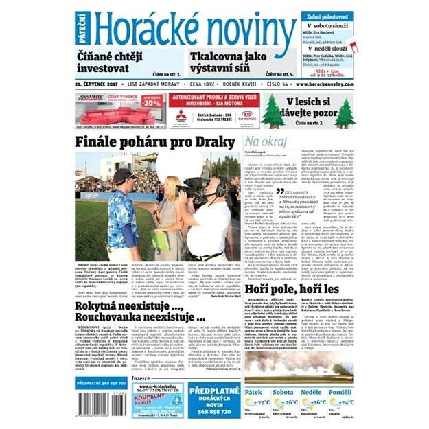 Horácké noviny - Pátek 21.7.2017 č. 054 - Elektronické noviny