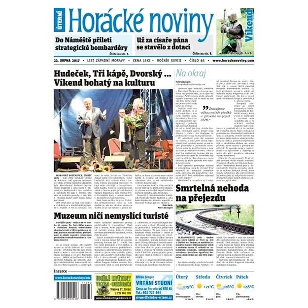 Horácké noviny - Úterý 22.8.2017 č. 063 - Elektronické noviny