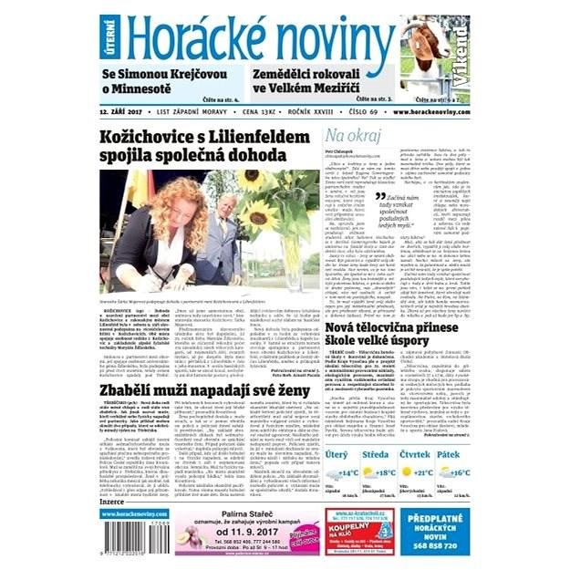 Horácké noviny - Úterý 12.9.2017 č. 069 - Elektronické noviny