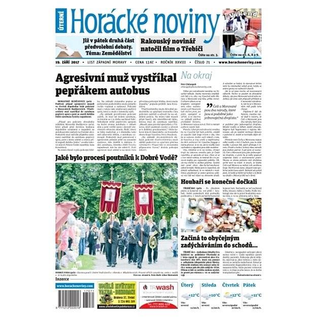 Horácké noviny - Úterý 19.9.2017 č. 071 - Elektronické noviny