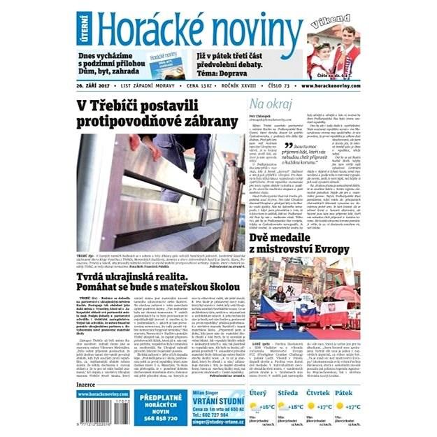 Horácké noviny - Úterý 26.9.2017 č. 073 - Elektronické noviny