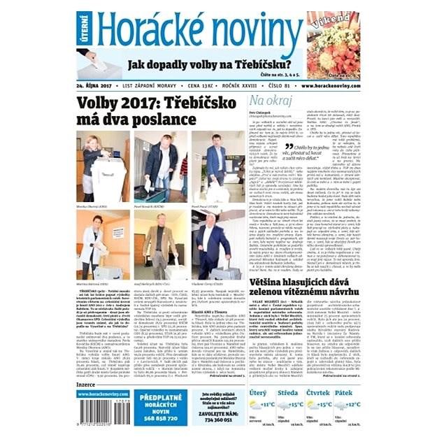 Horácké noviny - Úterý 24.10.2017 č. 081 - Elektronické noviny
