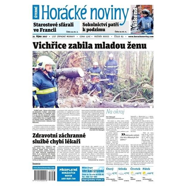Horácké noviny - Úterý 31.10.2017 č. 083 - Elektronické noviny