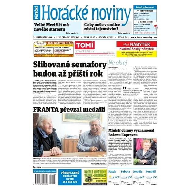 Horácké noviny - Pátek 03.11.2017 č. 084 - Elektronické noviny