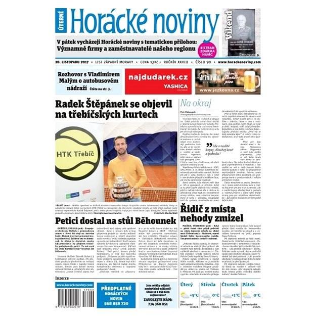 Horácké noviny - Úterý 28.11.2017 č. 090 - Elektronické noviny