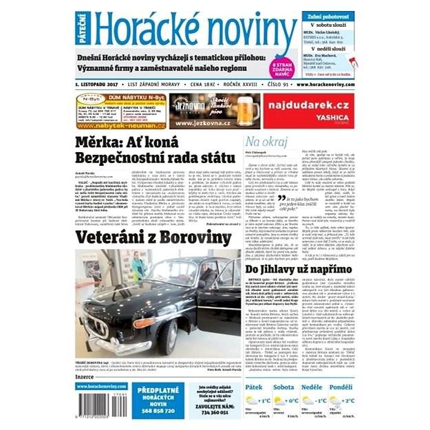 Horácké noviny - Pátek 01.12.2017 č. 091 - Elektronické noviny