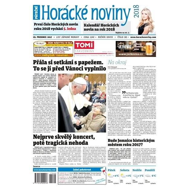 Horácké noviny - Pátek 29.12.2017 č. 098 - Elektronické noviny