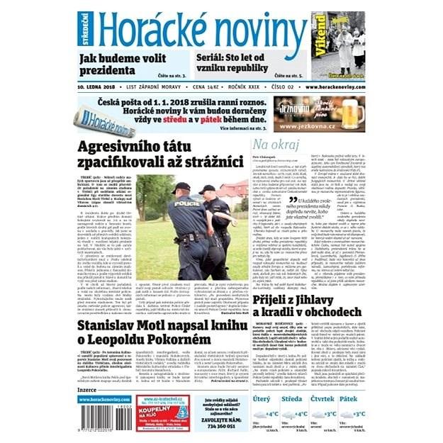 Horácké noviny - Středa 10.1.2018 č. 002 - Elektronické noviny
