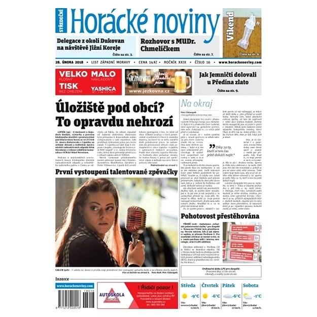 Horácké noviny - Středa 28.2.2018 č. 016 - Elektronické noviny