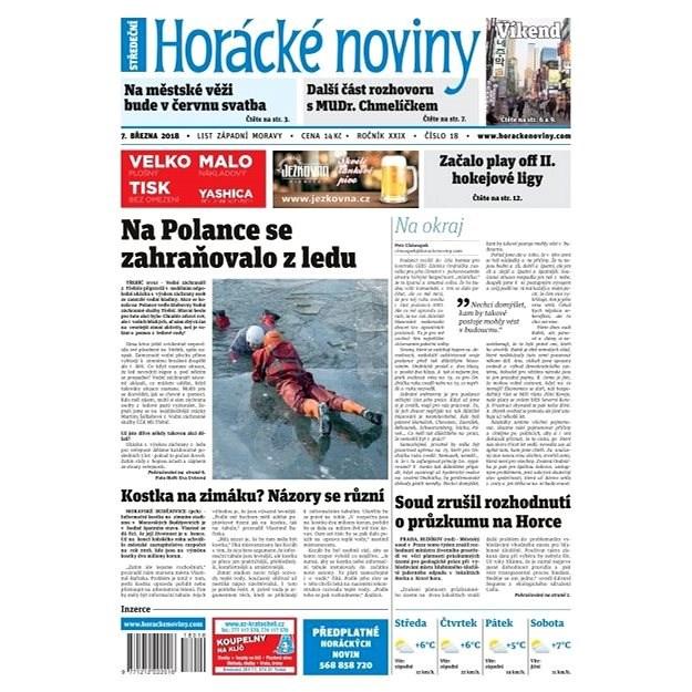 Horácké noviny - Středa 7.3.2018 č. 018 - Elektronické noviny