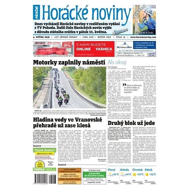 Horácké noviny - Pátek 4.5.2018 č. 033 - Elektronické noviny